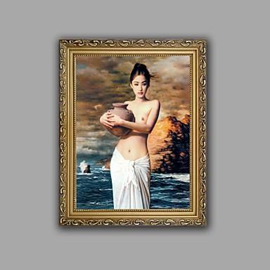 toile set Nu Modern / Style européen,Un Panneau Toile Verticale Imprimer Art Décoration murale For Décoration d'intérieur
