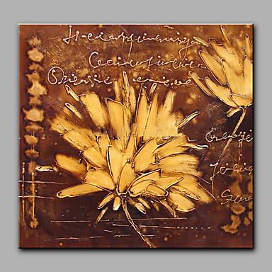 Handgemalte Abstrakt Quadratisch, Traditionell-Klassisch Segeltuch Hang-Ölgemälde Haus Dekoration Ein Panel