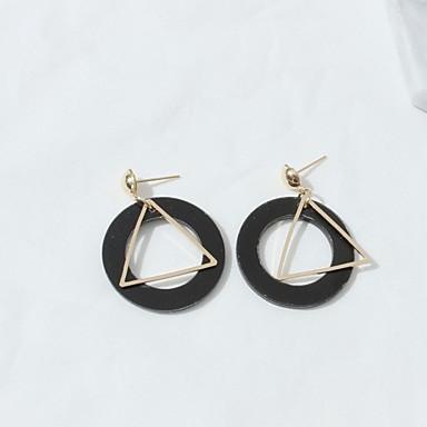 Női - minimalista stílusú Fehér / Fekete Geometric Shape Fülbevaló Kompatibilitás Esküvő / Randi