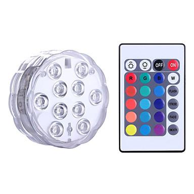 billige Utendørsbelysning-YWXLIGHT® 1 stk LED Night Light RGB Batteri Mulighet for demping Vanntett Trådløs Fargeskiftende Dekorativ