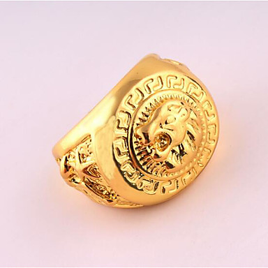 Men's Ring - Rose Gold Plated Unique Design, Punk 9 / 10 Gold For Birthday / Business / Gift