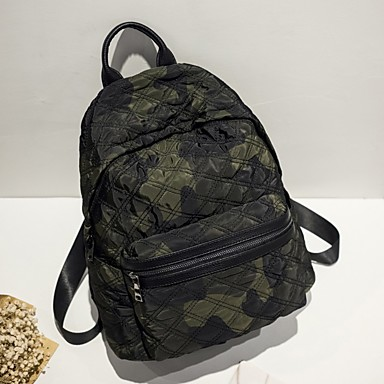 Women's Bags Oxford Cloth Backpack for Casual All Seasons Black Military Green Light Black