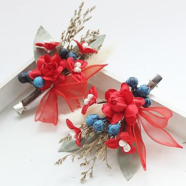 Sifon Csipke Anyag Selyem Virágok Hair Clip 1 Esküvő Különleges alkalom Születésnap Party / estély Sisak