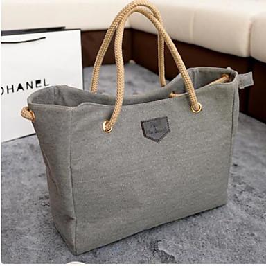 Damen Taschen Segeltuch Umhängetasche für Draussen Blau / Schwarz / Grau