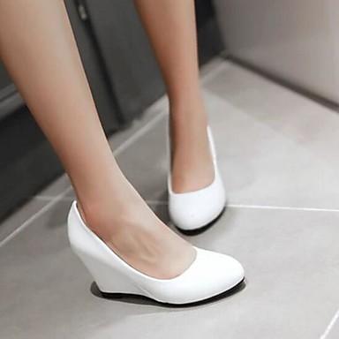 Damen Schuhe PU Sommer Komfort High Heels Für Normal Weiß Schwarz Rosa