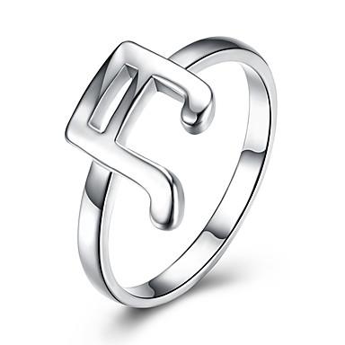 abordables Bague-Femme Anneau Alliance Bague Argent Argent sterling Luxe / Classique / Style Simple Mariage / Soirée / Fiançailles Bijoux de fantaisie