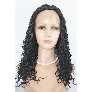 Szintetikus csipke front parókák Hullámos haj Csipke eleje Természetes paróka Hosszú Szintetikus haj