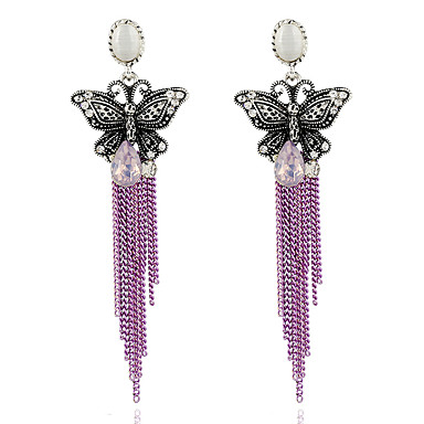Női Gyöngyutánzat - Vintage / Alap Bíbor / Világos rózsaszín Fülbevaló Kompatibilitás Parti / Születésnap / Napi
