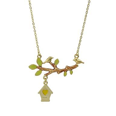 للمرأة شجرة الحياة أساسي موضة أسلوب بسيط قلائد الحلي مجوهرات سبيكة قلائد الحلي ، تخرج يوميا فضفاض