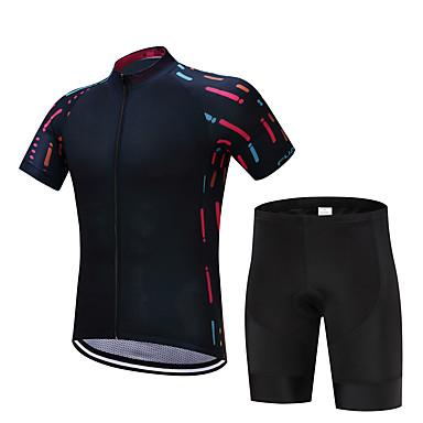 FUALRNY® Keréspáros dzsörzé nadrággal Férfi Rövid ujjú Bike Ruházati kollekciók Kerékpáros ruházat Gyors szárítás Párásodás gátlás