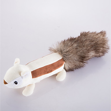 Plush Toy Squeaking Toy Cute Squeak / Squeaking Squirrel Squirrel Faux Fur For Dog Puppy
