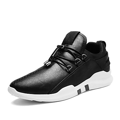 Férfi cipő Műbőr Ősz / Tél Kényelmes Tornacipők Fehér / Fekete