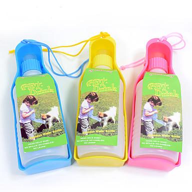 L Gato Cachorro Tigelas e Bebedouros Animais de Estimação Tigelas e alimentação de animais Portátil Amarelo Azul Rosa claro