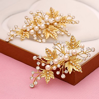 Imitation Pearl / Rhinestone / Alloy Flowers / Hair Clip with 1 Wedding / Special Occasion / Birthday Headpiece