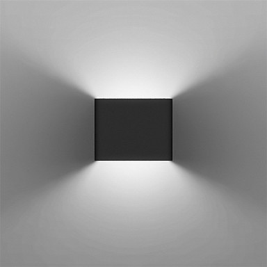 Modern 3W LED Wall Sconce Light Fixture Indoor Hallway Up Down Wall Lamp Black White Optional