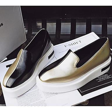 Damen Schuhe PU Frühling Sommer Komfort Loafers & Slip-Ons Für Normal Gold Grün