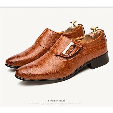 Herrn Schuhe PU Leder Frühling Herbst formale Schuhe Leuchtende Sohlen Komfort Outdoor für Normal Büro & Karriere Schwarz Braun