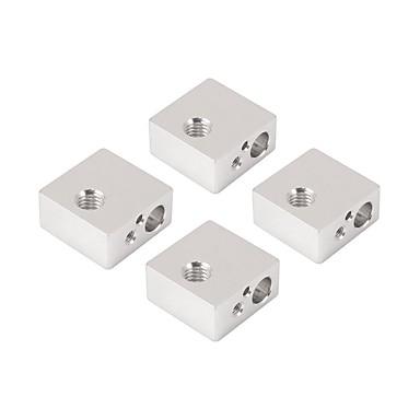 baratos Peças e Acessórios para Impressoras 3D-Bloco de aquecimento de aquecedor de alumínio 4pcs dedicado para makerbot mk7 mk8 extrusor de impressora 3D extremidade quente