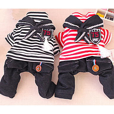Hund Overall Hundekleidung Lässig/Alltäglich Buchstabe & Nummer Schwarz Rot Kostüm Für Haustiere