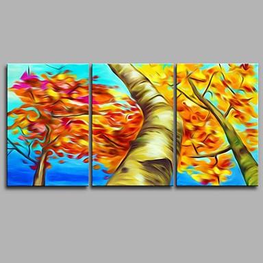 Hang festett olajfestmény Kézzel festett - Landscape Művészi Absztrakt Rusztikus Vászon