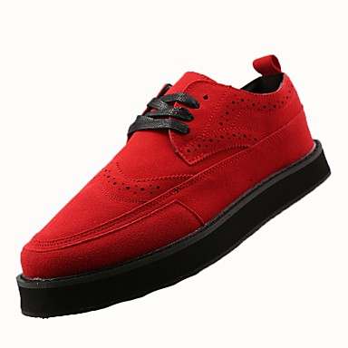 Men's PU(Polyurethane) Spring / Fall Comfort Athletic Shoes Black / Red / Blue