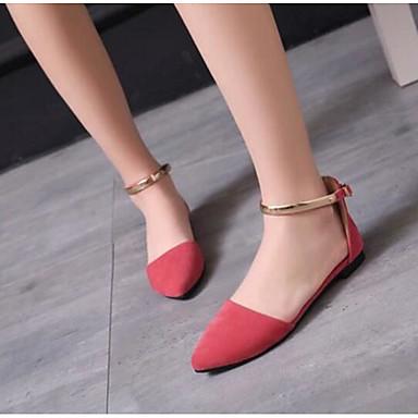 Damen Schuhe PU Sommer Komfort Sandalen Für Normal Rot Grün
