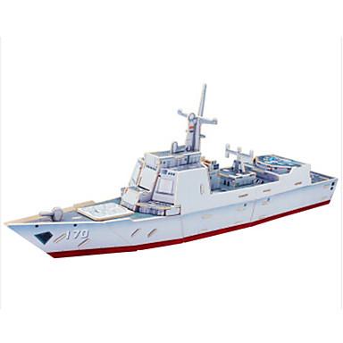 Regalo Barco Madera Niños Unisex 3d Manualidades Puzzle Juguet Juguetes Puzzles Construcción Destructor De Guerra Clásico Buque 7gI6vYbymf
