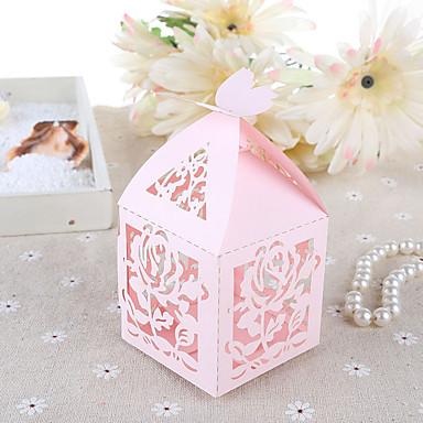 Kreatív Kocka alakú/köb Kártyapapír Gyöngy-papír Favor Holder val vel Minta Ajándék dobozok Ajándékdobozok