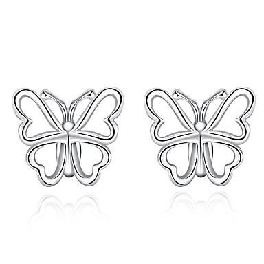 Női Bowknot Shape Ezüstözött Beszúrós fülbevalók - Személyre szabott / aranyos stílus / Divat Ezüst Bowknot Shape Fülbevaló Kompatibilitás