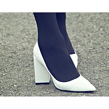Damen Schuhe Echtes Leder Frühling Sommer Komfort Pumps High Heels Für Normal Weiß Schwarz