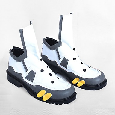 Cosplay أحذية تأثيري أحذية من المراقبة من جانب الكوسبلاي أنيمي Cosplay أحذية جلد PU جلد جلد البولي يوريثان للجنسين للبالغين