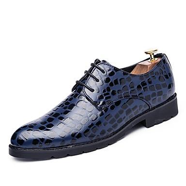 Férfi cipő Bőr / PU Ősz / Tél Kényelmes / Könnyű talpak / Búvárcipő Félcipők Fekete / Kék / Party és Estélyi / Ruha cipő