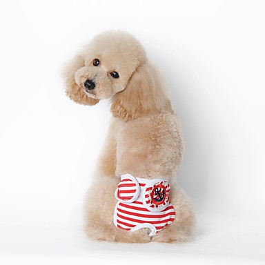 Hund Pyjamas Hundekleidung Lässig/Alltäglich Streifen Schwarz Rot Marineblau Kostüm Für Haustiere