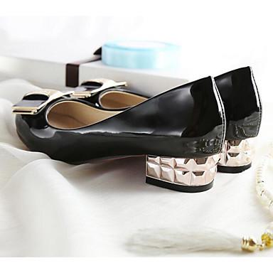 Damen Schuhe PU Frühling Herbst Komfort High Heels Für Normal Weiß Schwarz Beige