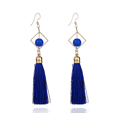 Women's - Tassel, Vintage, Basic Red / Blue / Pink For Gift / Evening Party / Stage