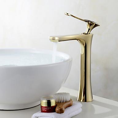 Installazione centrale valvola in ceramica uno oro lavandino rubinetto del bagno del 6115942 - Rubinetto lavandino bagno ...