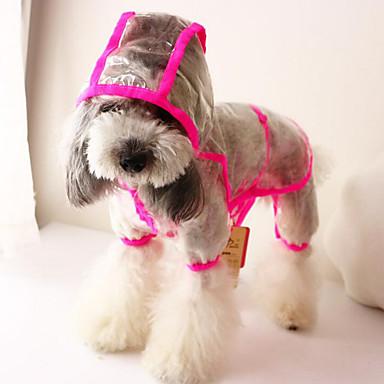 Hund Overall Regenmantel Hundekleidung Solide Gelb Rosa Acrylfasern Daune Kostüm Für Haustiere Sommer Herrn Damen Lässig / Alltäglich