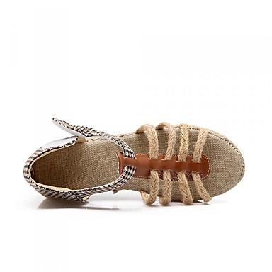 Damen Schuhe PU Sommer Komfort High Heels Blockabsatz Offene Spitze für Normal Schwarz Braun
