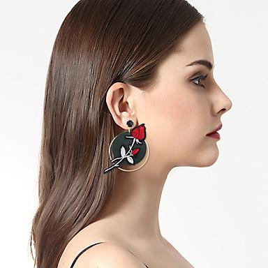 Női Luxus / Bikini / Eltérés Mások / Virág Rendhagyó fülbevalók - Luxus / Bikini / Divat Piros Geometric Shape Fülbevaló Kompatibilitás