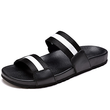 Men's Bootie Rubber / Synthetic Spring / Summer Comfort / Bootie Sandals Upstream Shoes Black / White