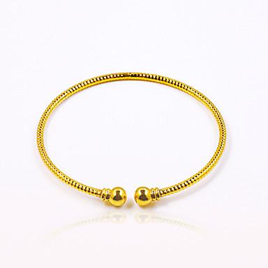Herrn Damen Manschetten-Armbänder Basis Modisch Vintage Punkstil individualisiert Hip-Hop vergoldet Ovale Form Runde Form Schmuck Für