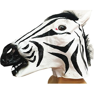 cheap Masks-Halloween Mask Animal Mask Zebra Horror Glue Pieces Adults' Unisex Toy Gift