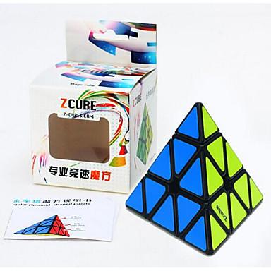مكعب روبيك z-cube Pyramid مرآة مكعب السلس مكعب سرعة مكعبات سحرية مخفف الضغط لغز مكعب هدية للجنسين