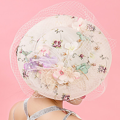 Tulle / Chiffon / Lace Fascinators / Hats / Hair Clip with 1 Wedding / Special Occasion / Birthday Headpiece
