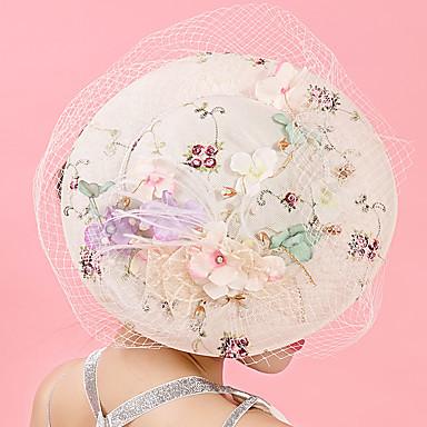 voordelige Hoeden-Tule / Chiffon / Kant fascinators / hatut / Hiusklipsi met 1 Bruiloft / Speciale gelegenheden / Verjaardag Helm