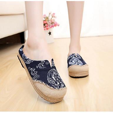 Damen Schuhe Stoff Sommer Komfort Slippers & Flip-Flops Für Normal Schwarz