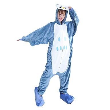 Kigurumi pizsama papuccsal Bagoly Onesie pizsama Jelmez Φανελένιο Ύφασμα Kék Cosplay mert Allati Hálóruházat Rajzfilm Halloween Fesztivál