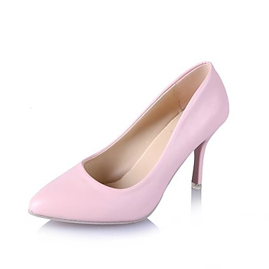 Damen Schuhe Kunstleder Lackleder Kunststoff Frühling Sommer High Heels Walking Stöckelabsatz Tupfen für Hochzeit Normal Büro & Karriere