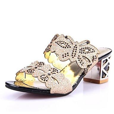 Damen Schuhe PU Sommer Komfort Sandalen für Normal Schwarz Marinenblau Blau