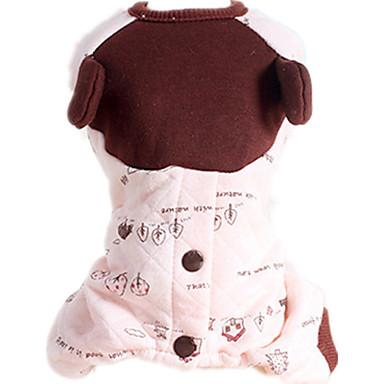 Hund Overall Hundekleidung Lässig/Alltäglich Blatt Rosa Kostüm Für Haustiere
